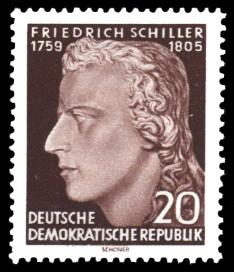 20 Pf Briefmarke: 150. Todestag von Friedrich Schiller