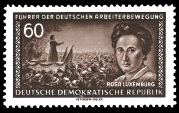 60 Pf Briefmarke: Führer der deutschen Arbeiterbewegung, Rosa Luxemburg