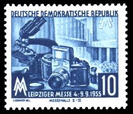 10 Pf Briefmarke: Leipziger Messe 1955, Herbstmesse