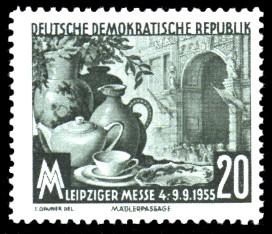 20 Pf Briefmarke: Leipziger Messe 1955, Herbstmesse