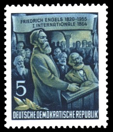 5 Pf Briefmarke: 60.Todestag von Friedrich Engels