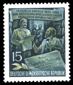 15 Pf Briefmarke: 60.Todestag von Friedrich Engels