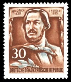 30 Pf Briefmarke: 60.Todestag von Friedrich Engels