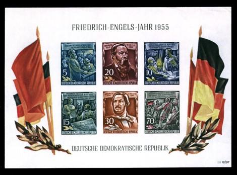 Briefmarke: Block - Friedrich Engels Jahr 1955