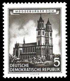 5 Pf Briefmarke: Historische Bauten der DDR, Magdeburger Dom