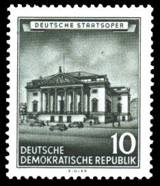 10 Pf Briefmarke: Historische Bauten der DDR, Deutsche Staatsoper