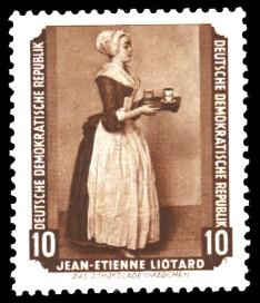 10 Pf Briefmarke: Gemälde - von der Sowjetunion zurückgeführte