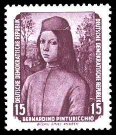15 Pf Briefmarke: Gemälde - von der Sowjetunion zurückgeführte