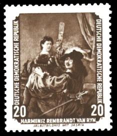 20 Pf Briefmarke: Gemälde - von der Sowjetunion zurückgeführte