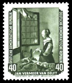 40 Pf Briefmarke: Gemälde - von der Sowjetunion zurückgeführte
