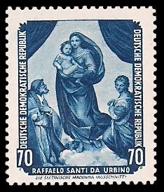 70 Pf Briefmarke: Gemälde - von der Sowjetunion zurückgeführte
