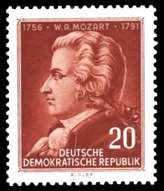 20 Pf Briefmarke: 200. Geburtstag W. A. Mozart