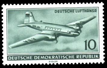 10 Pf Briefmarke: Deutsche Lufthansa