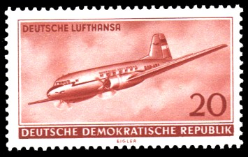 20 Pf Briefmarke: Deutsche Lufthansa