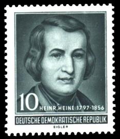 10 Pf Briefmarke: 100. Todestag Heinrich Heine