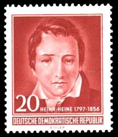 20 Pf Briefmarke: 100. Todestag Heinrich Heine