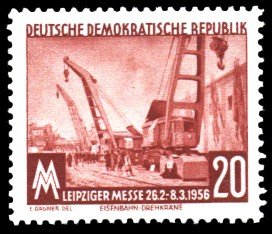 20 Pf Briefmarke: Leipziger Messe, Frühjahrsmesse