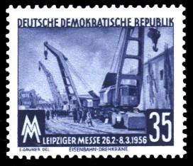 35 Pf Briefmarke: Leipziger Messe, Frühjahrsmesse