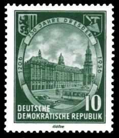 10 Pf Briefmarke: 750 Jahre Dresden