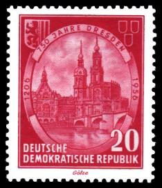 20 Pf Briefmarke: 750 Jahre Dresden