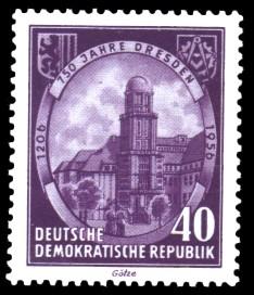 40 Pf Briefmarke: 750 Jahre Dresden