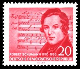 20 Pf Briefmarke: 100. Todestag von Robert Schumann