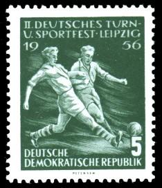 5 Pf Briefmarke: 2. Deutsches Turn- und Sportfest Leipzig