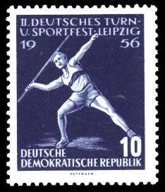 10 Pf Briefmarke: 2. Deutsches Turn- und Sportfest Leipzig