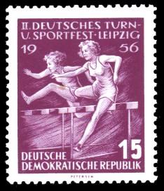 15 Pf Briefmarke: 2. Deutsches Turn- und Sportfest Leipzig