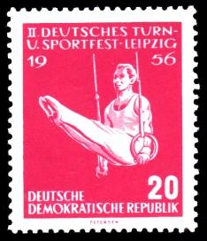 20 Pf Briefmarke: 2. Deutsches Turn- und Sportfest Leipzig