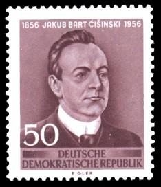 50 Pf Briefmarke: 100. Geburtstag Jakub Bart-Ci�inski