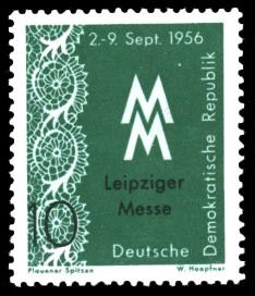 10 Pf Briefmarke: Leipziger Messe, Herbstmesse 1956