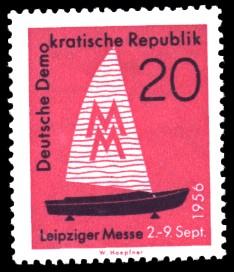20 Pf Briefmarke: Leipziger Messe, Herbstmesse 1956