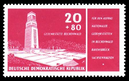 20 + 80 Pf Briefmarke: Für den Aufbau Nationaler Gedenkstätten