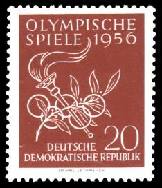 20 Pf Briefmarke: Olympische Spiele 1956