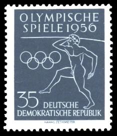 35 Pf Briefmarke: Olympische Spiele 1956