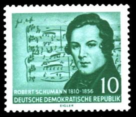 10 Pf Briefmarke: 100. Todestag Robert Schumann