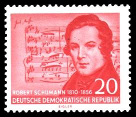 20 Pf Briefmarke: 100. Todestag Robert Schumann