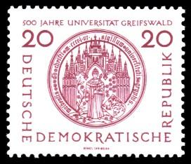 20 Pf Briefmarke: 500 Jahre Universität Greifswald