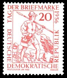 20 Pf Briefmarke: Tag der Briefmarke 1956