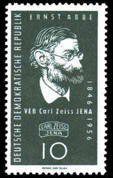 10 Pf Briefmarke: VEB Carl Zeiss Jena, 110 Jahre Carl Zeiss Jena