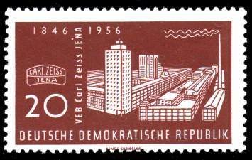 20 Pf Briefmarke: VEB Carl Zeiss Jena, 110 Jahre Carl Zeiss Jena