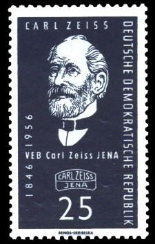 25 Pf Briefmarke: VEB Carl Zeiss Jena, 110 Jahre Carl Zeiss Jena