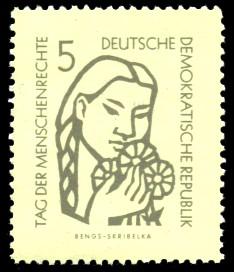 5 Pf Briefmarke: Tag der Menschenrechte