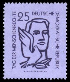 25 Pf Briefmarke: Tag der Menschenrechte