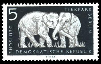 5 Pf Briefmarke: Tierpark Berlin