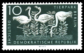 10 Pf Briefmarke: Tierpark Berlin
