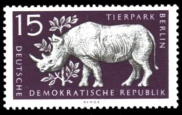 15 Pf Briefmarke: Tierpark Berlin