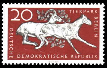 20 Pf Briefmarke: Tierpark Berlin