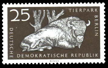 25 Pf Briefmarke: Tierpark Berlin